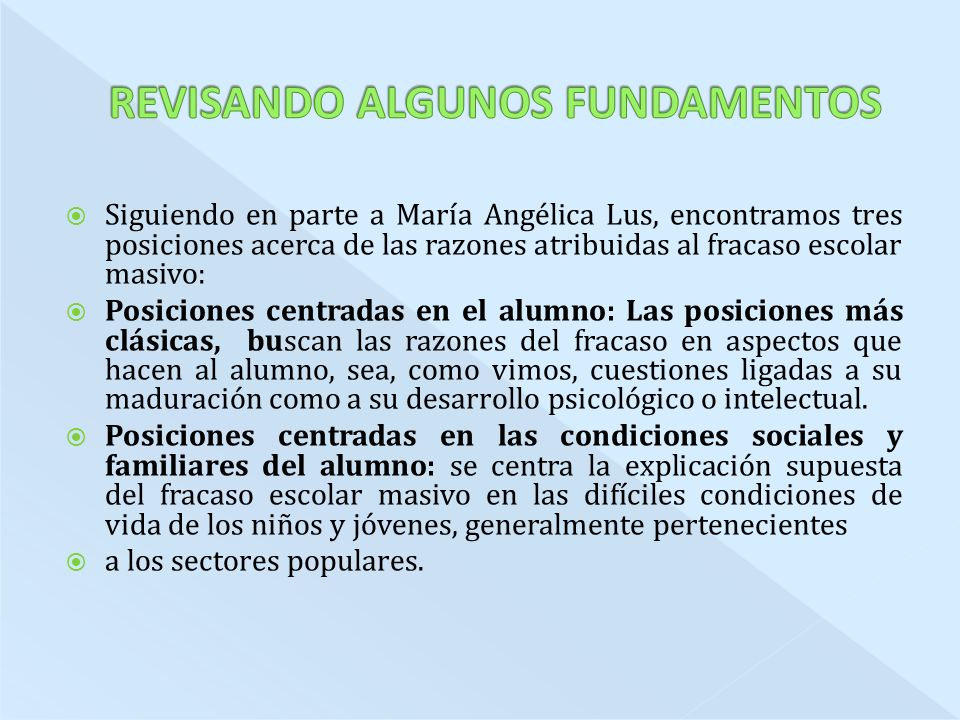 REVISANDO ALGUNOS FUNDAMENTOS