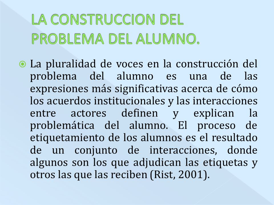 LA CONSTRUCCION DEL PROBLEMA DEL ALUMNO.