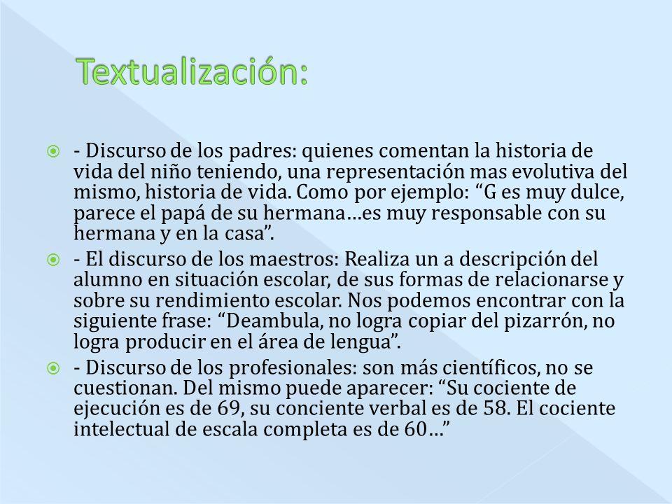 Textualización: