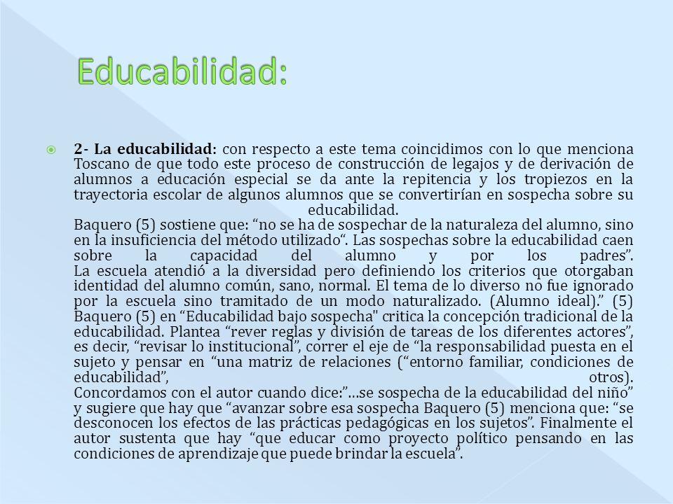 Educabilidad:
