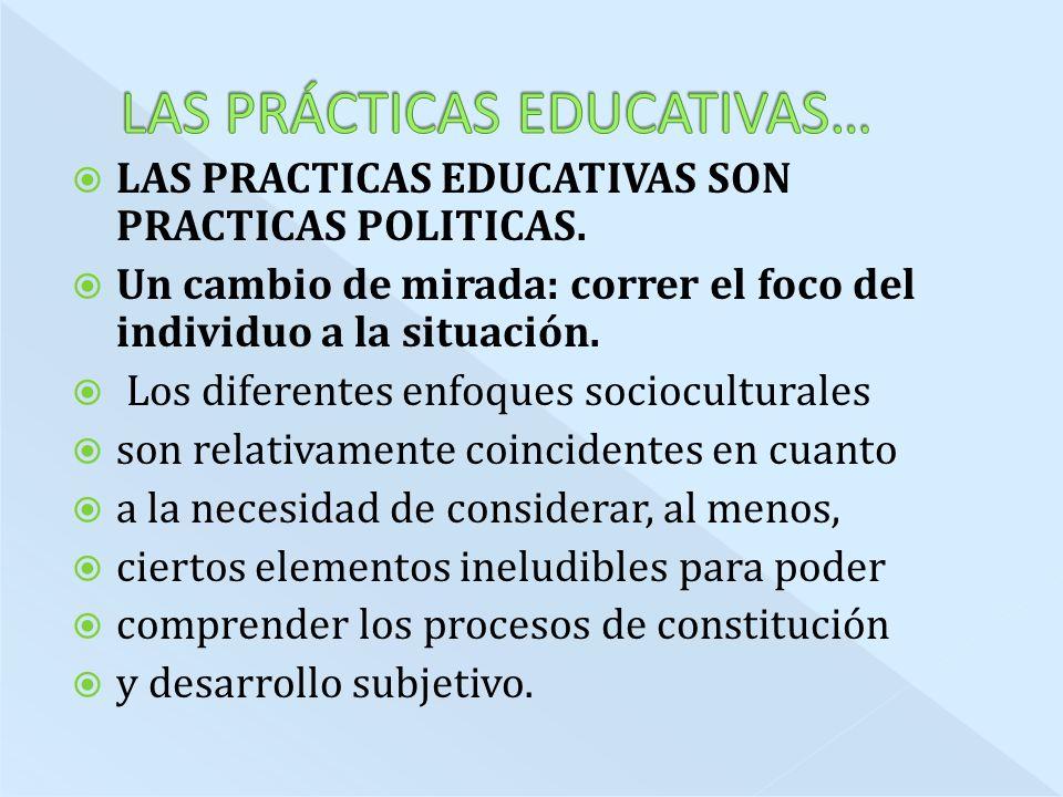 LAS PRÁCTICAS EDUCATIVAS…