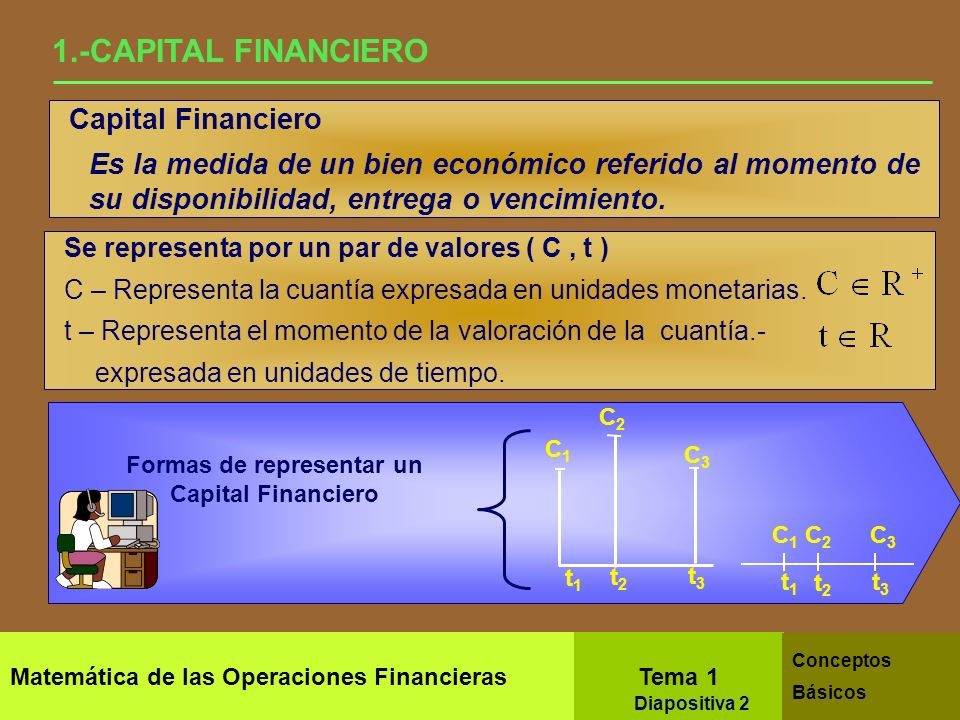 Formas de representar un Capital Financiero