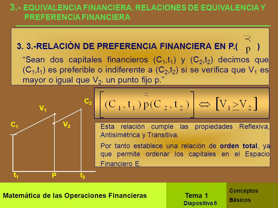 3. - EQUIVALENCIA FINANCIERA