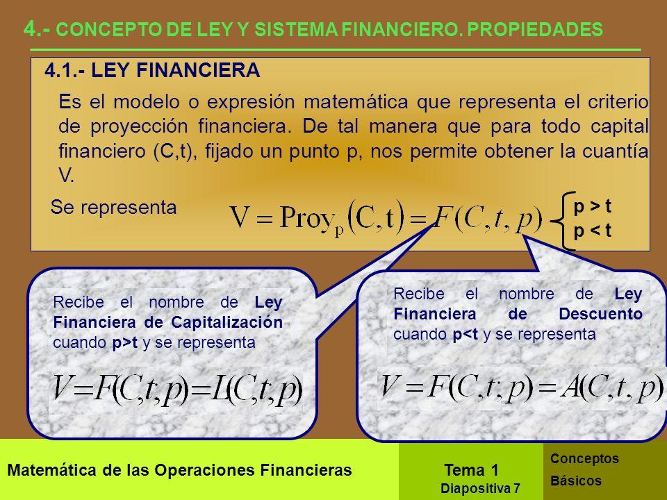 4.- CONCEPTO DE LEY Y SISTEMA FINANCIERO. PROPIEDADES