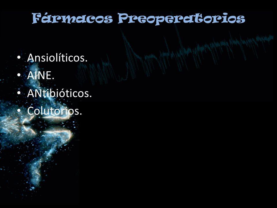 Fármacos Preoperatorios