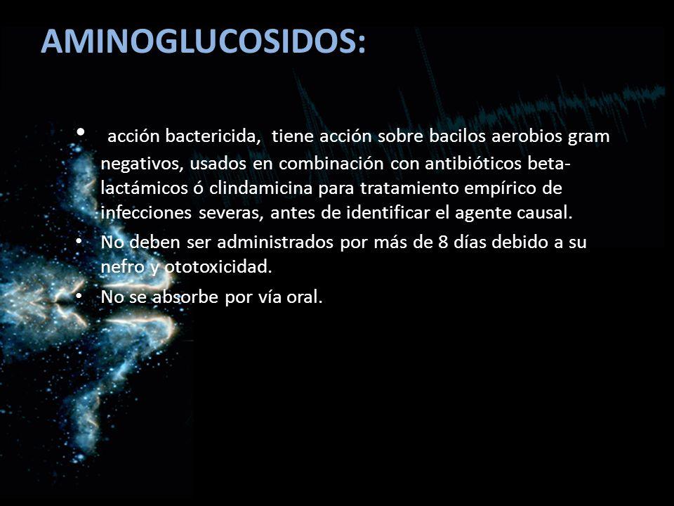 AMINOGLUCOSIDOS: