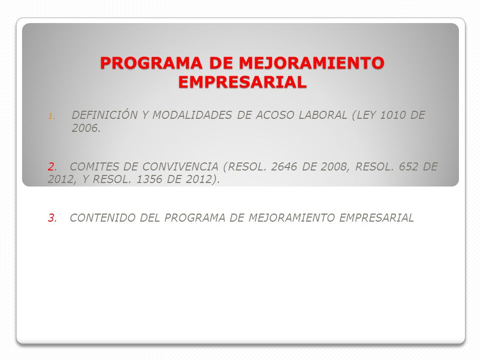 PROGRAMA DE MEJORAMIENTO EMPRESARIAL