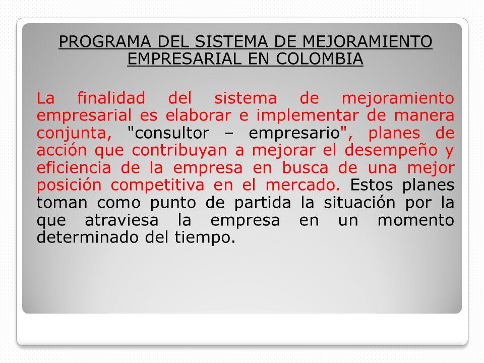PROGRAMA DEL SISTEMA DE MEJORAMIENTO EMPRESARIAL EN COLOMBIA