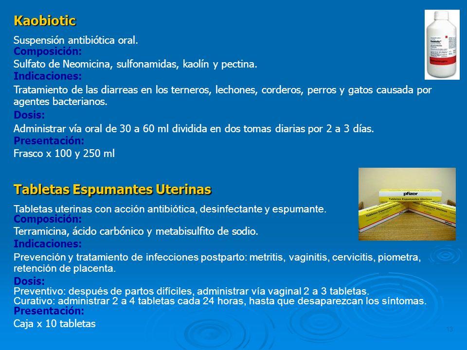 Tabletas Espumantes Uterinas