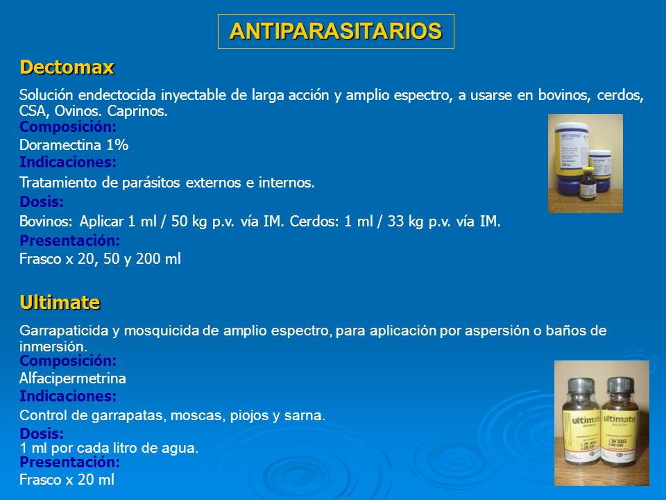 ANTIPARASITARIOS Dectomax Ultimate