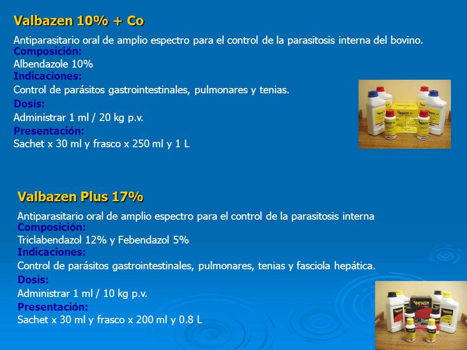 Valbazen 10% + Co Valbazen Plus 17%