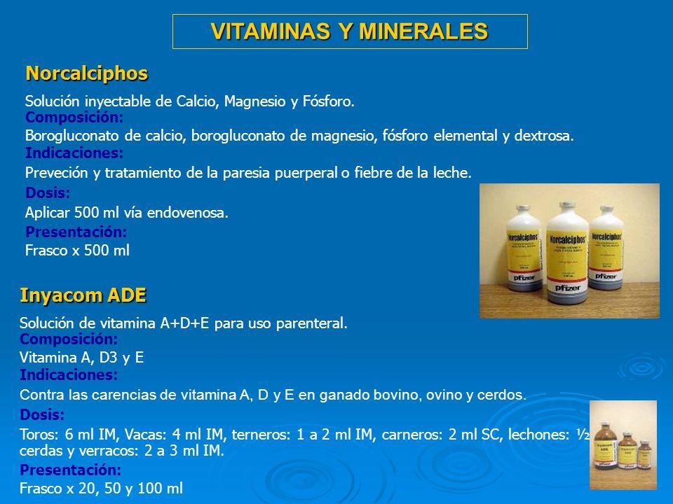 VITAMINAS Y MINERALES Norcalciphos Inyacom ADE
