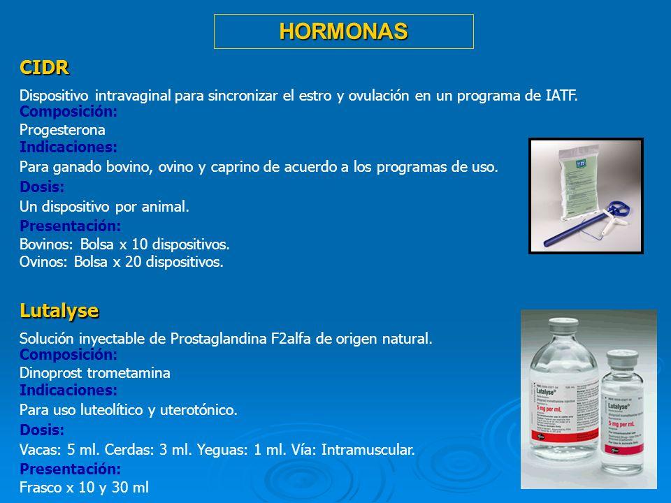 HORMONAS CIDR Lutalyse