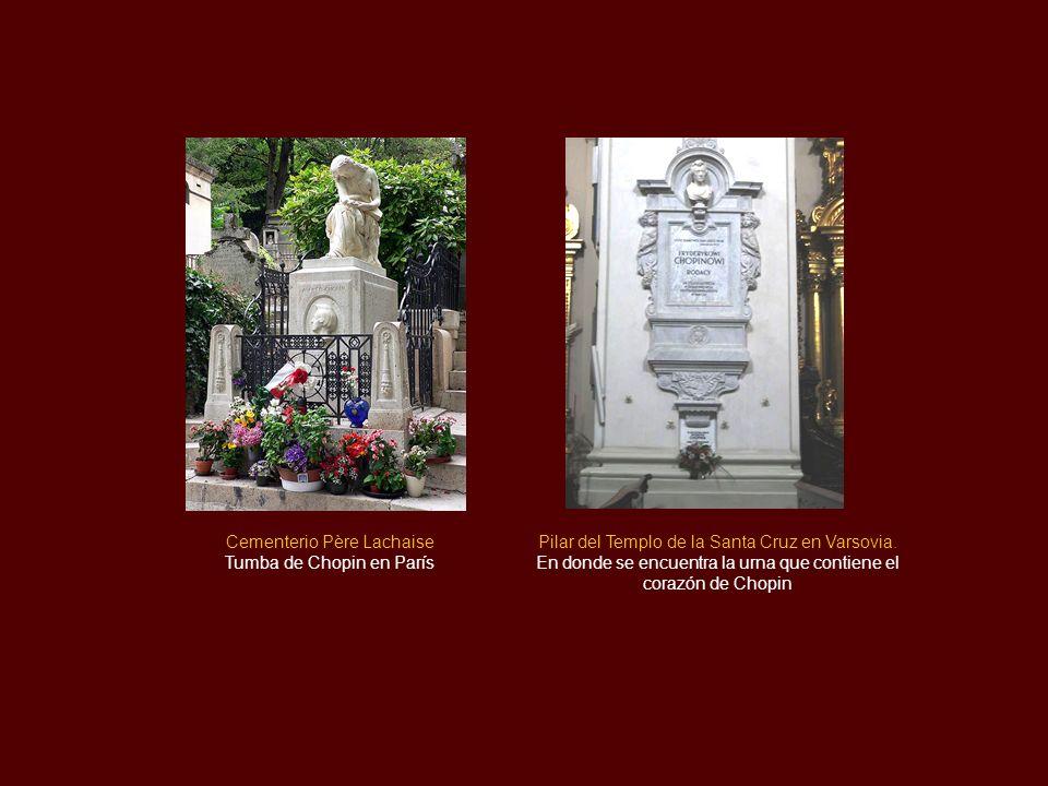 Cementerio Père Lachaise Tumba de Chopin en París