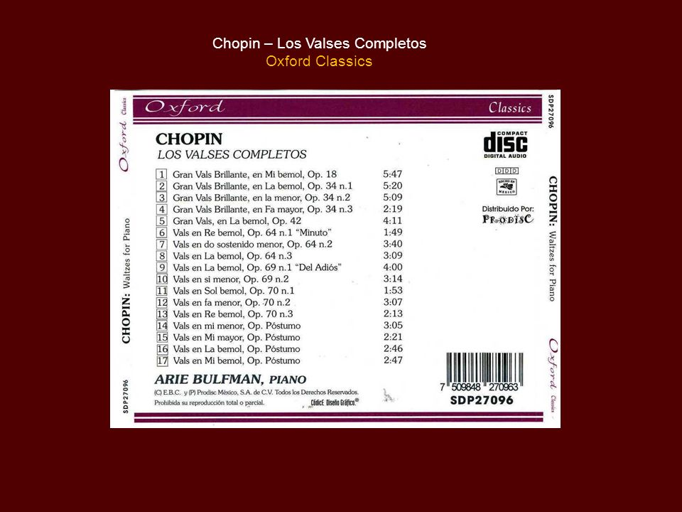 Chopin – Los Valses Completos