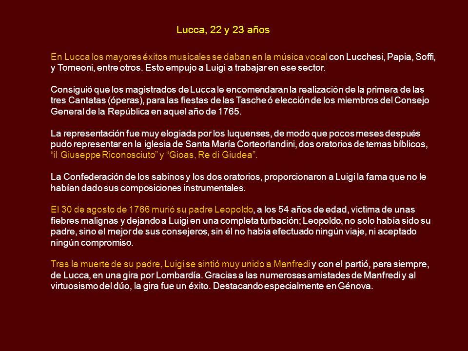 Lucca, 22 y 23 años
