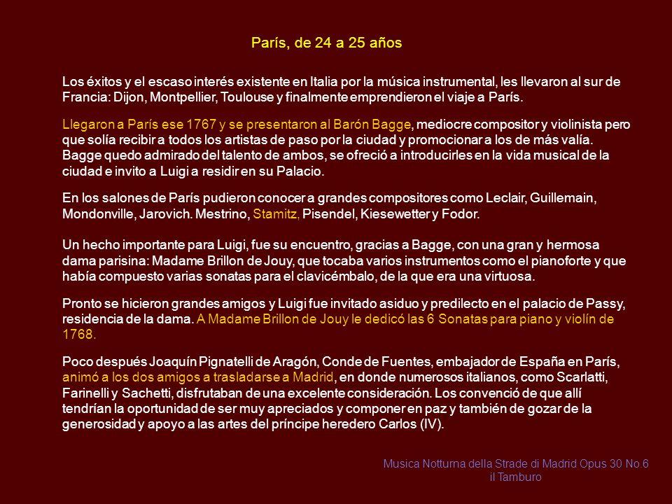 Musica Notturna della Strade di Madrid Opus 30 No.6 il Tamburo
