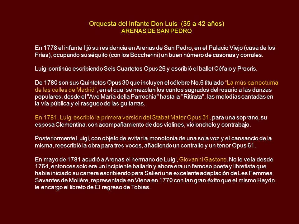 Orquesta del Infante Don Luis (35 a 42 años) ARENAS DE SAN PEDRO
