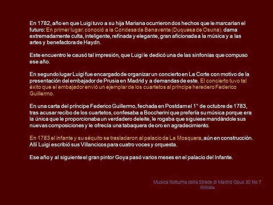 Musica Notturna della Strade di Madrid Opus 30 No.7 Ritirata