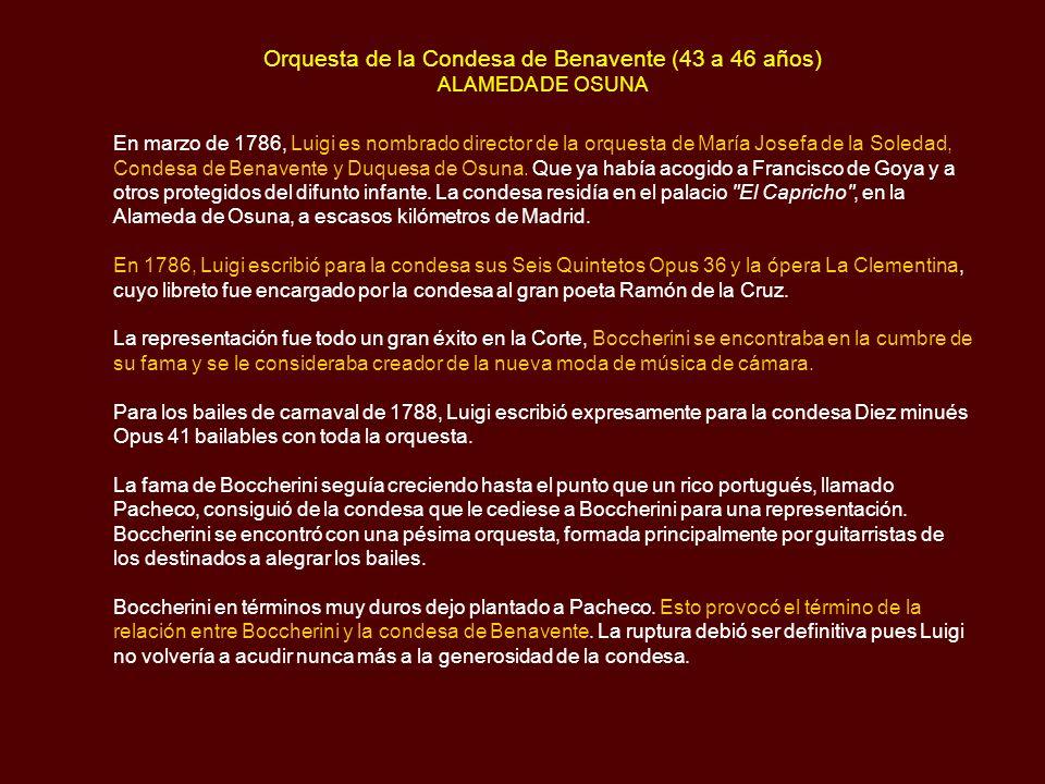 Orquesta de la Condesa de Benavente (43 a 46 años) ALAMEDA DE OSUNA