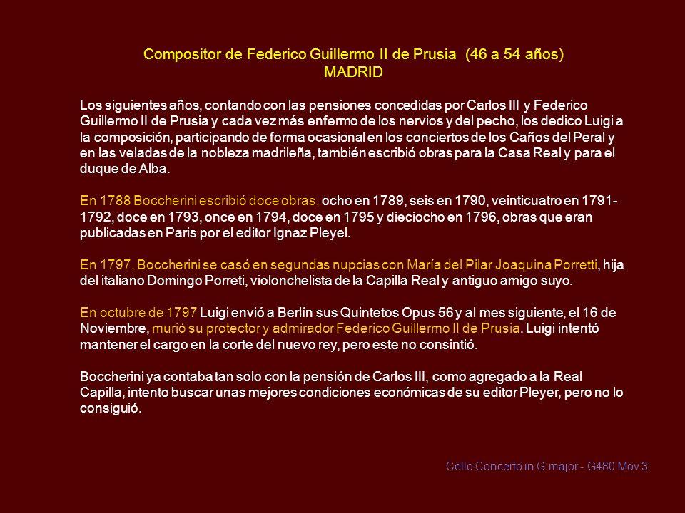 Compositor de Federico Guillermo II de Prusia (46 a 54 años) MADRID