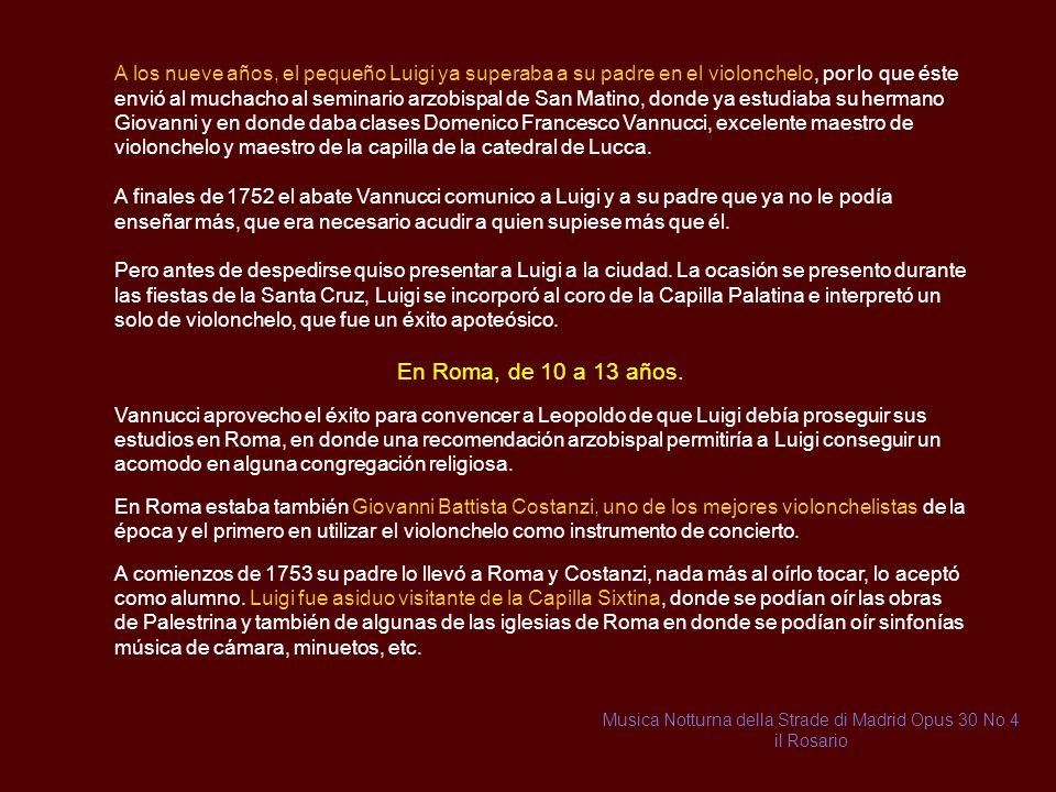 Musica Notturna della Strade di Madrid Opus 30 No.4 il Rosario