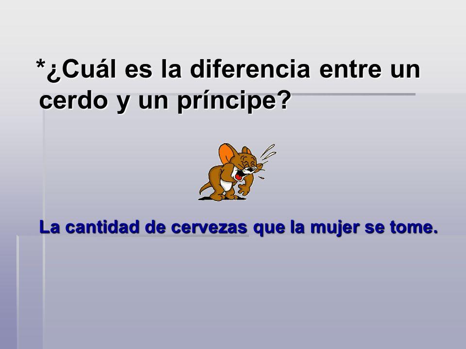 *¿Cuál es la diferencia entre un cerdo y un príncipe