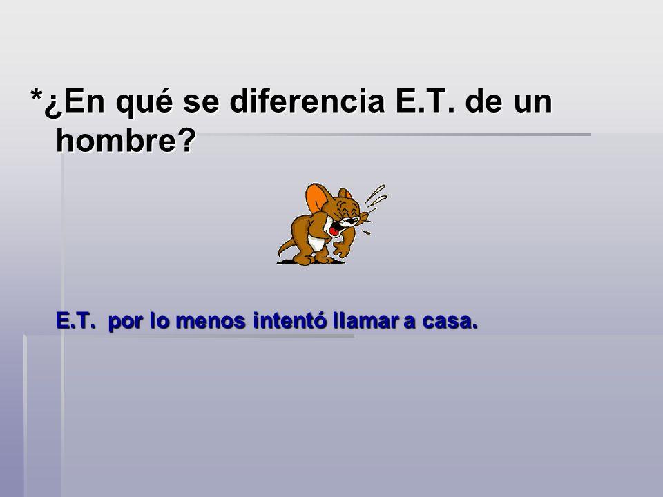 *¿En qué se diferencia E.T. de un hombre