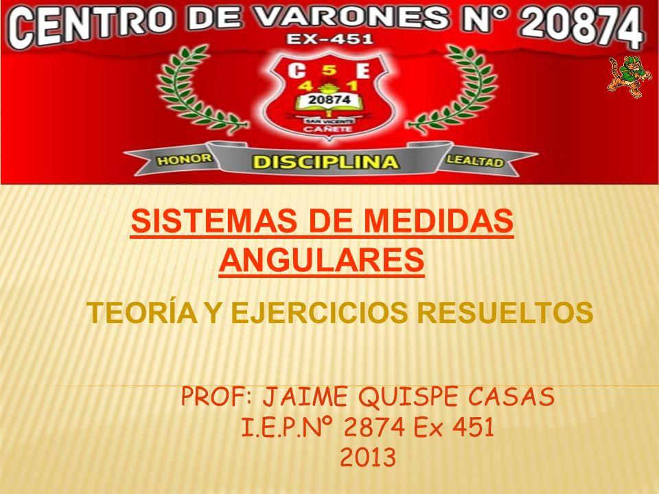 PROF: JAIME QUISPE CASAS I.E.P.Nº 2874 Ex 451 2013