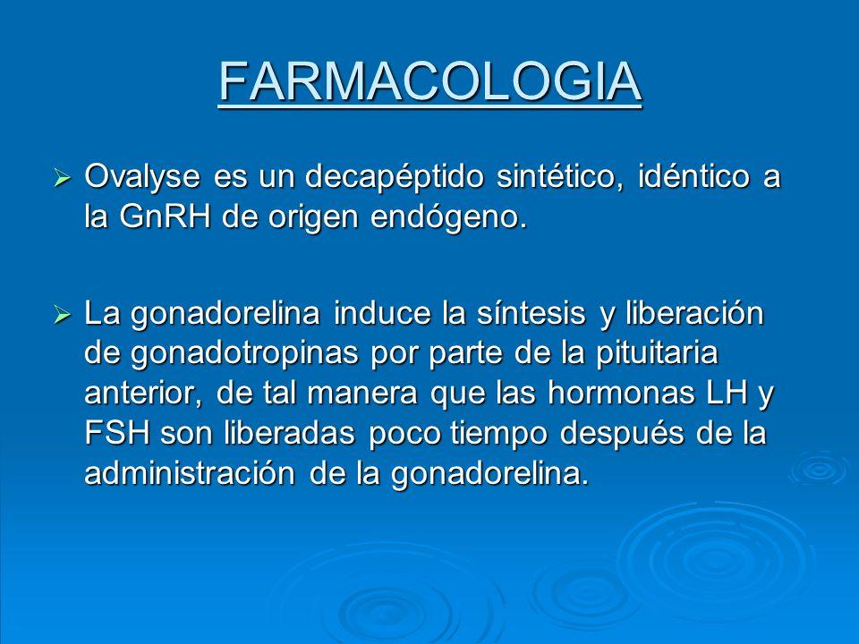 FARMACOLOGIA Ovalyse es un decapéptido sintético, idéntico a la GnRH de origen endógeno.