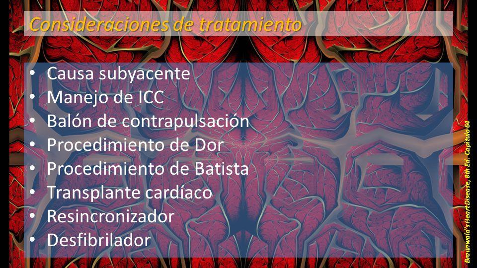 Consideraciones de tratamiento