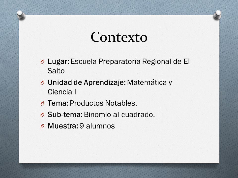 Contexto Lugar: Escuela Preparatoria Regional de El Salto