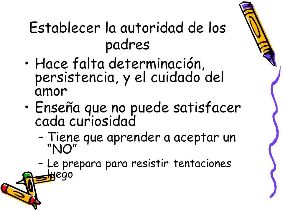 Establecer la autoridad de los padres