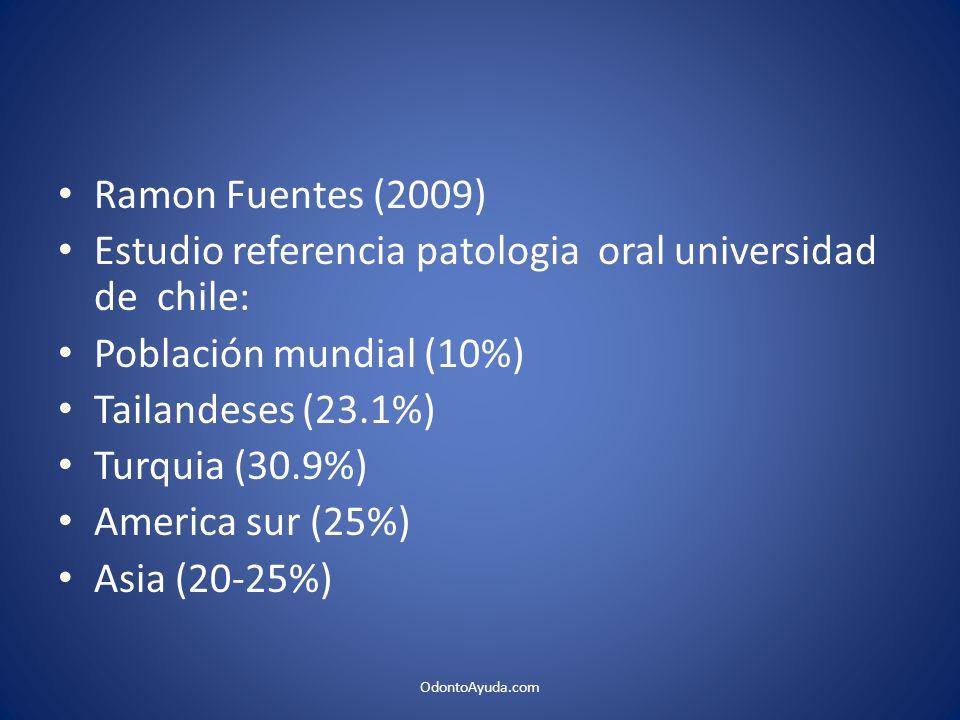 Estudio referencia patologia oral universidad de chile: