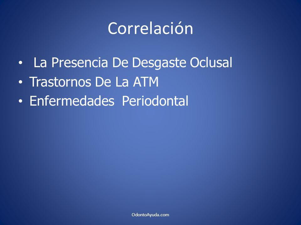 Correlación La Presencia De Desgaste Oclusal Trastornos De La ATM
