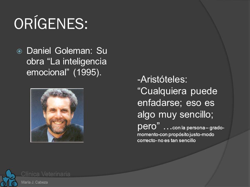 ORÍGENES: Daniel Goleman: Su obra La inteligencia emocional (1995).