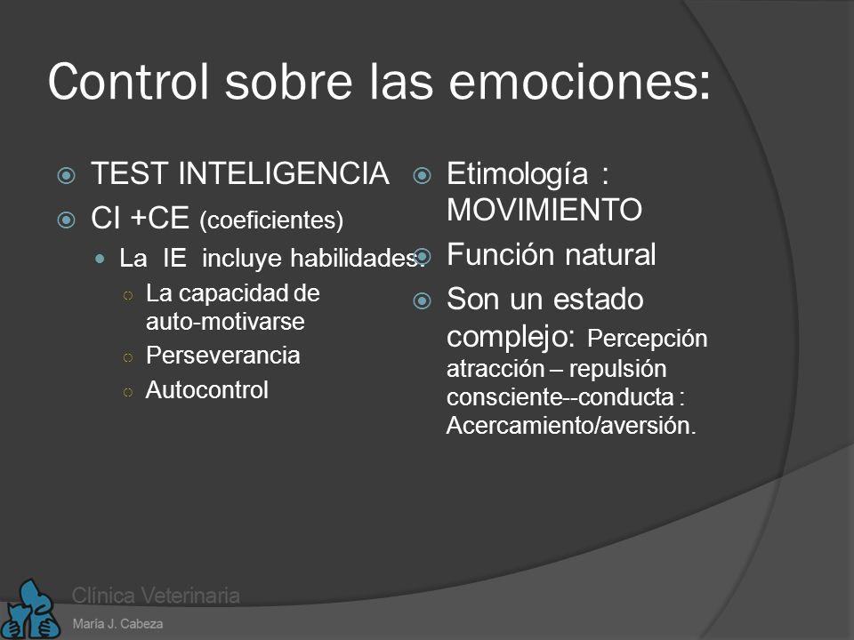 Control sobre las emociones: