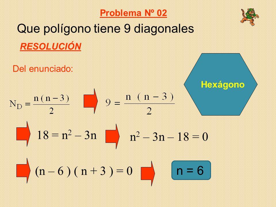 Que polígono tiene 9 diagonales