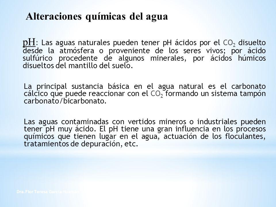 Alteraciones químicas del agua