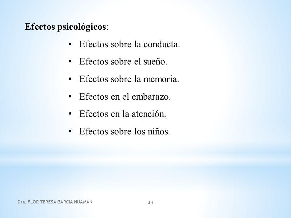 Efectos psicológicos: Efectos sobre la conducta.