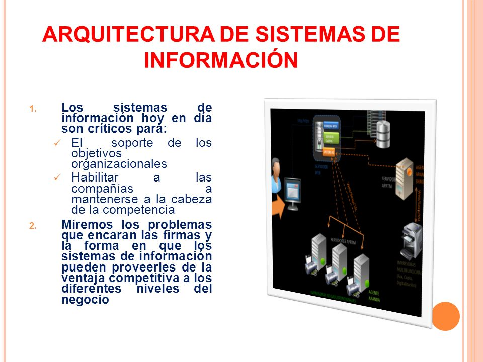 ARQUITECTURA DE SISTEMAS DE INFORMACIÓN