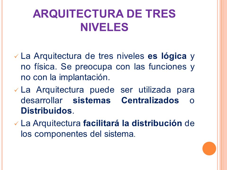 ARQUITECTURA DE TRES NIVELES