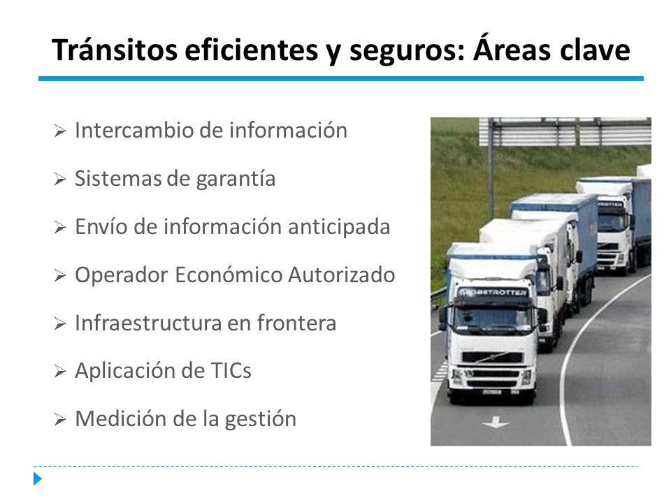 Tránsitos eficientes y seguros: Áreas clave