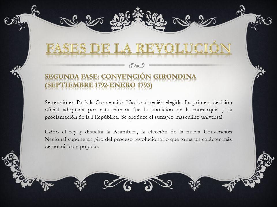 Fases de la Revolución Segunda fase: Convención girondina