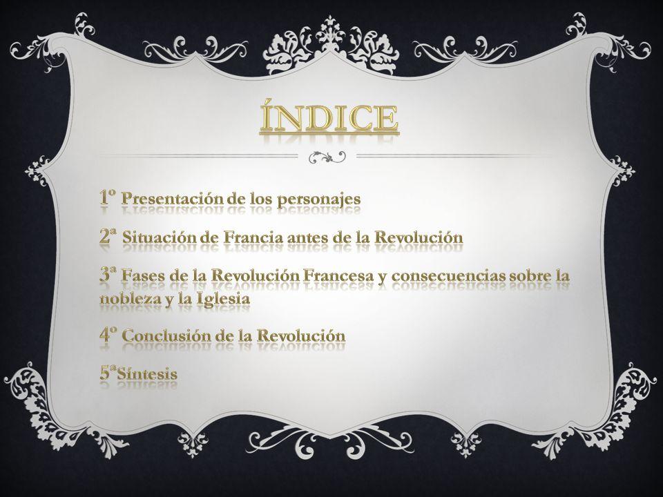 ÍNDICE 1º Presentación de los personajes