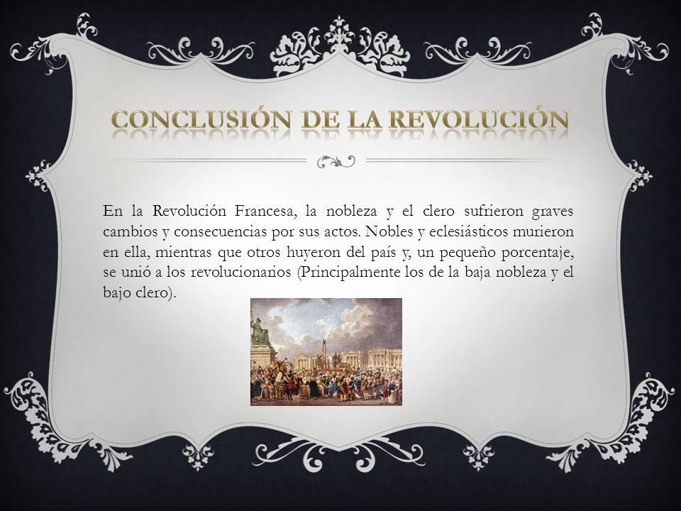 CONCLUSIÓN DE LA REVOLUCIÓN