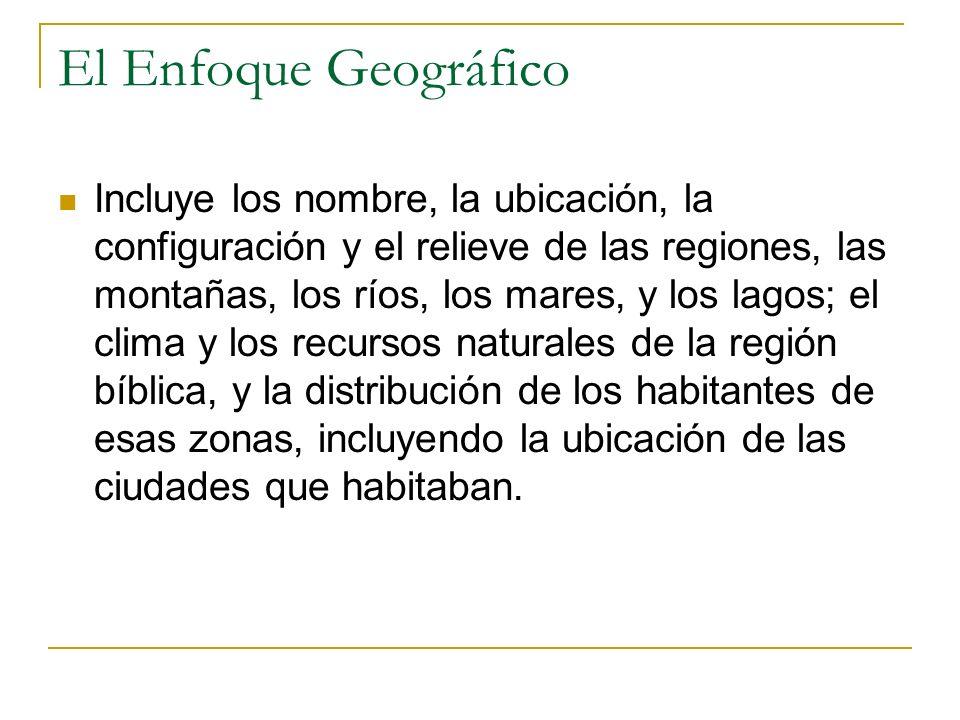 El Enfoque Geográfico