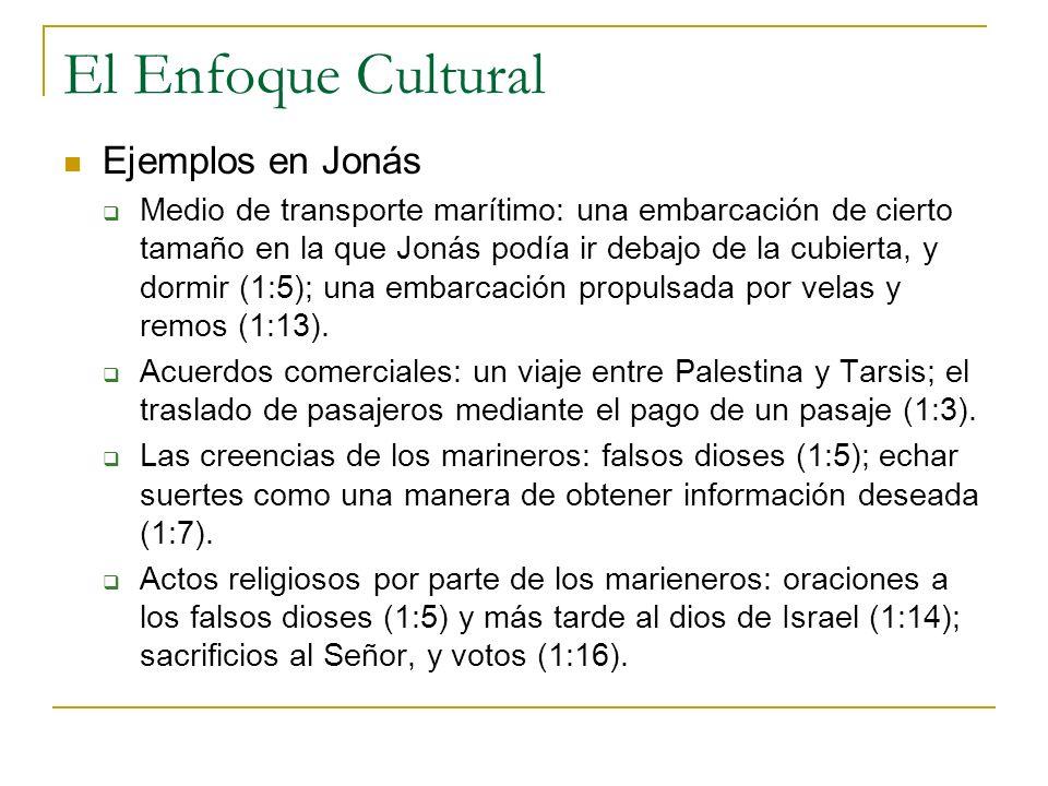 El Enfoque Cultural Ejemplos en Jonás