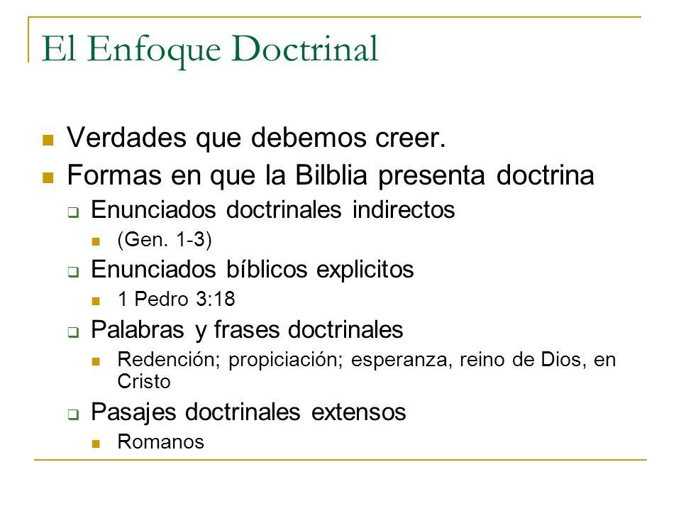 El Enfoque Doctrinal Verdades que debemos creer.
