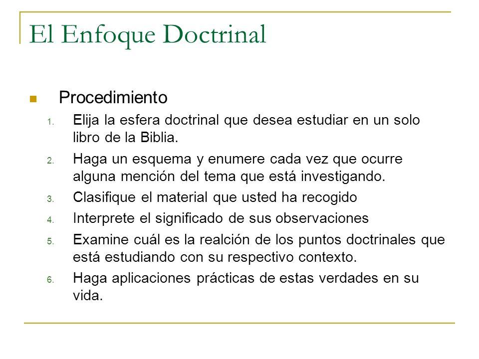 El Enfoque Doctrinal Procedimiento